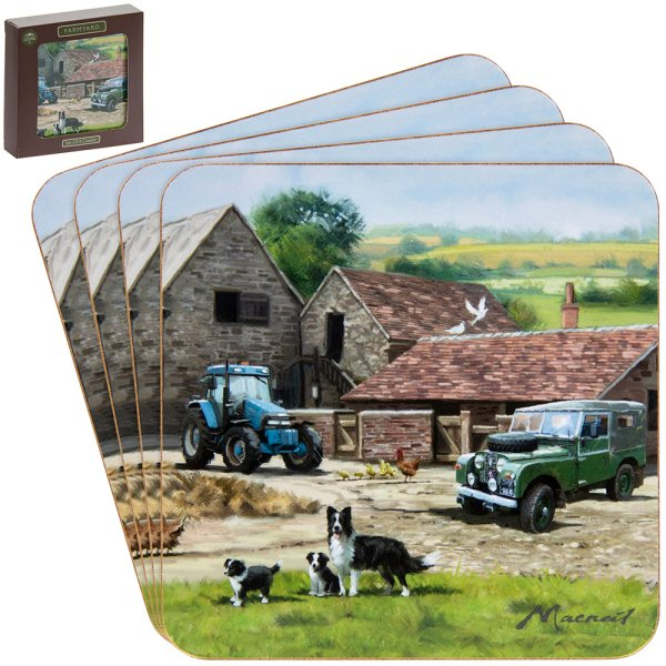 FARMYARD COASTERS 4SET