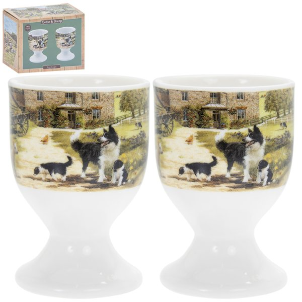 COLLIE & SHEEP EGG CUPS
