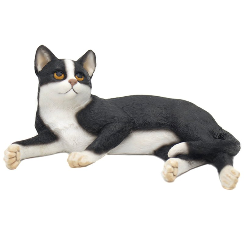 CAT LAYING BLACK & WHITE