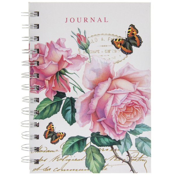 REDOUTE ROSE B6 NOTEBOOK
