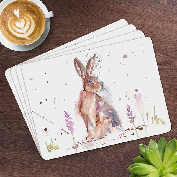 COUNTRY LIFE HARE PLACEMATS S4