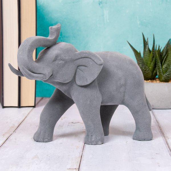 GREY VELVET ELEPHANT STANDING