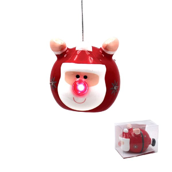 SANTA LED BAUBLE