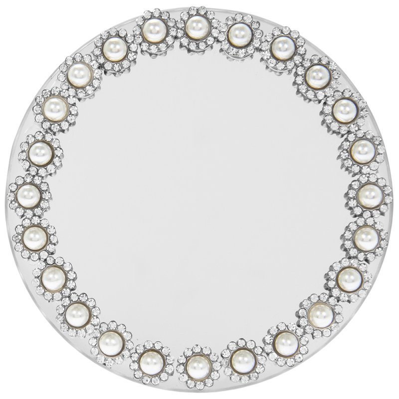 PEARL MIRROR CANDLE PLATE 10CM