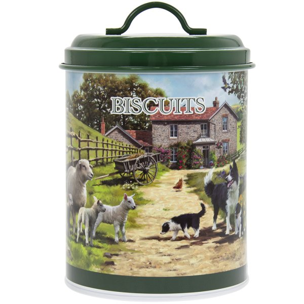 COLLIE&SHEEP BISCUITS CANISTER