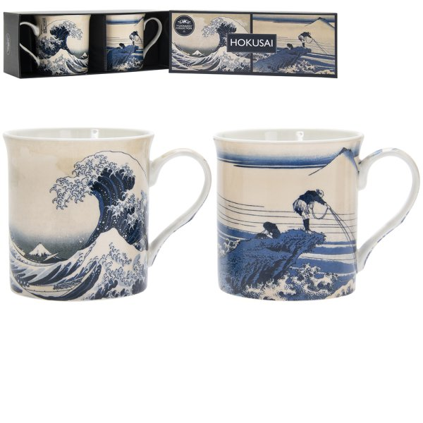 FUJI WAVE MUGS SET OF 2
