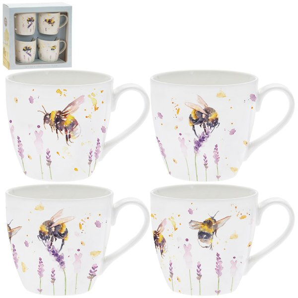 COUNTRY LIFE BEES MUGS  S4