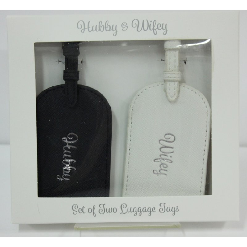 HUBBY & WIFEY LUGGAGE TAGS
