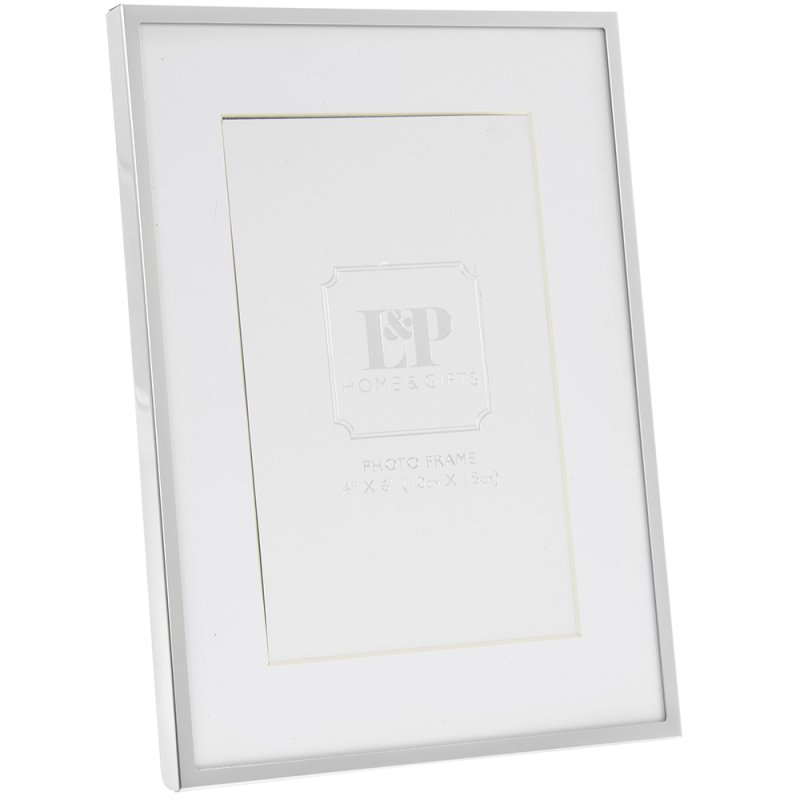 """SILVER PHOTE FRAME 4X6"""""""