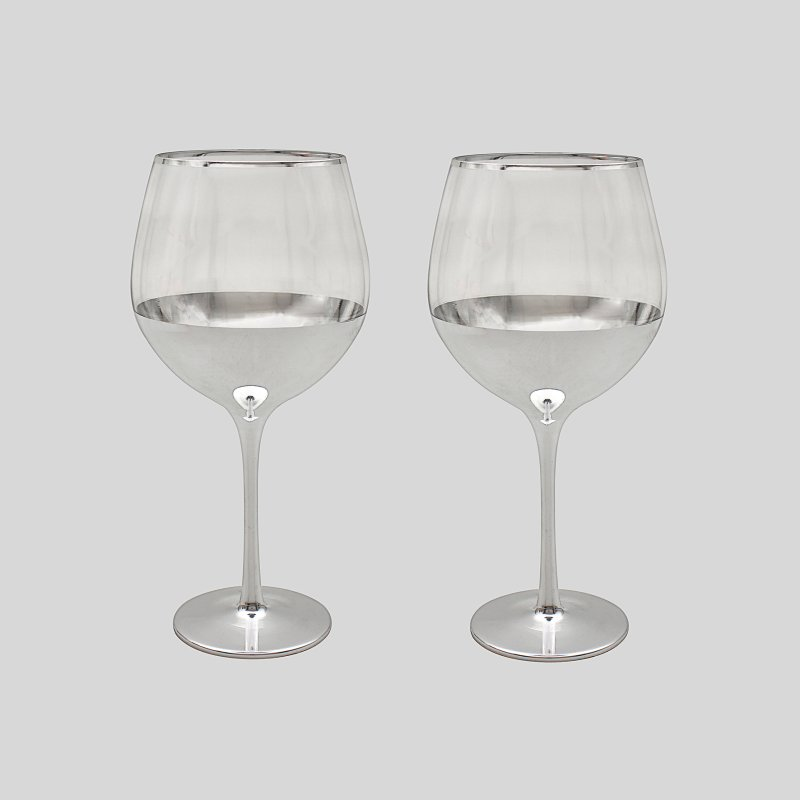 SILVER GIN GLASSES SET OF 2