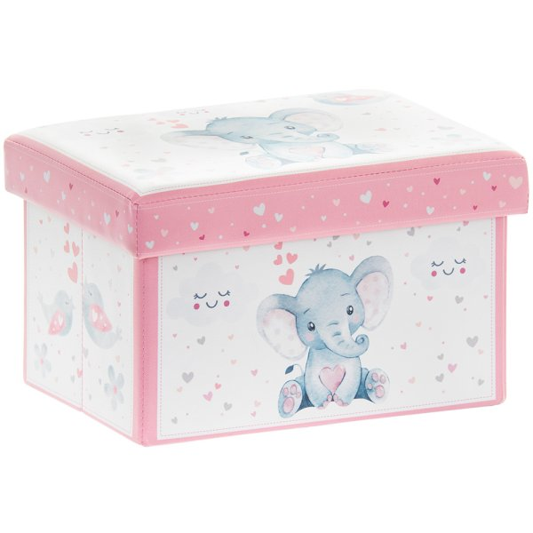 BIRD & ELLIE STORAGE BOX PINK
