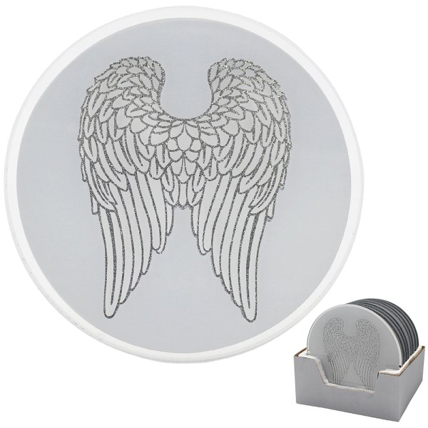 ANGEL WINGS CANDLE PLATE 20CM