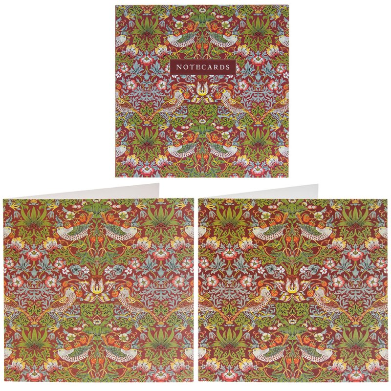 S BERRY THIEF RED NOTECARD SET