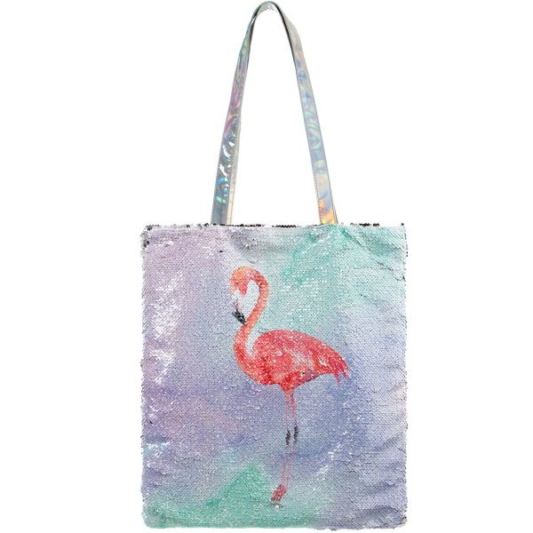FLAMINGO SEQUIN BAG
