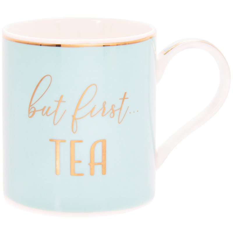 LET PARTY FIRST TEA MUG