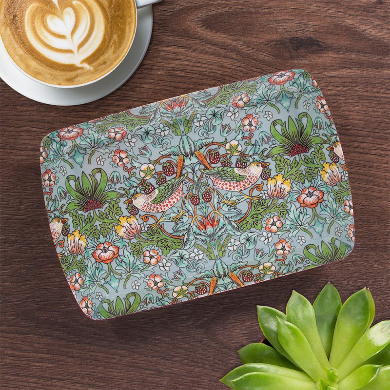 S'BERRY THIEF TEAL TRAY SMALL