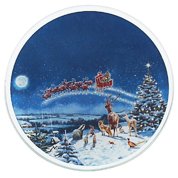 MAGIC OF XMAS CANDLE PLATE 10C