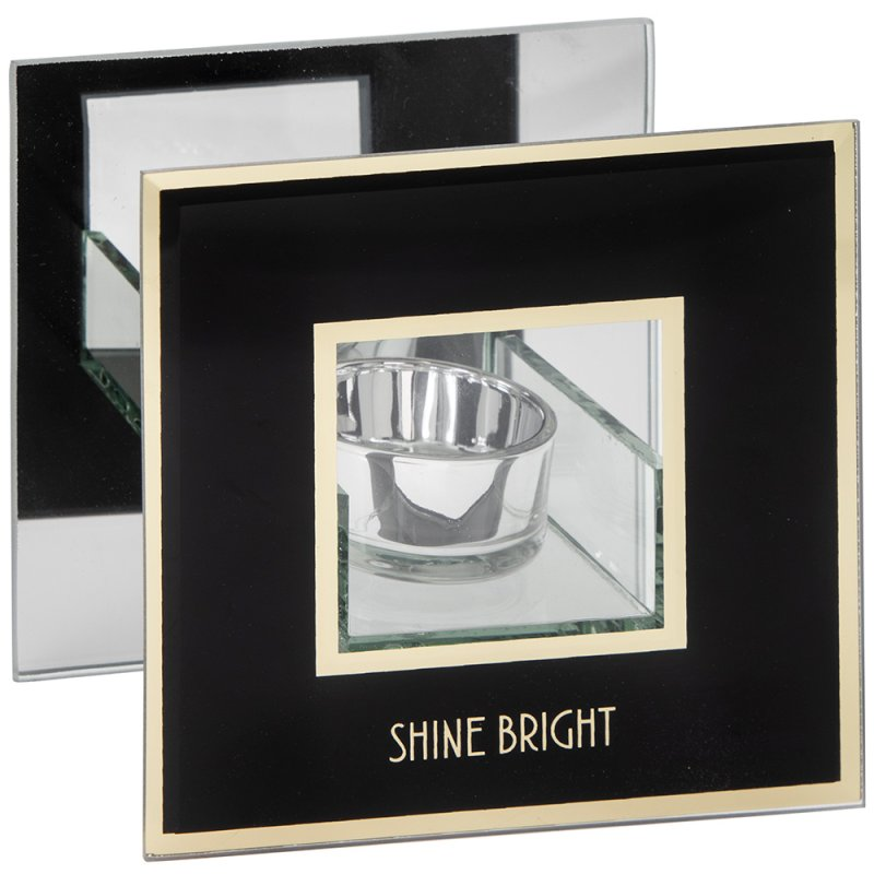 SHINE BRIGHT CANDLE HOLDER BLK