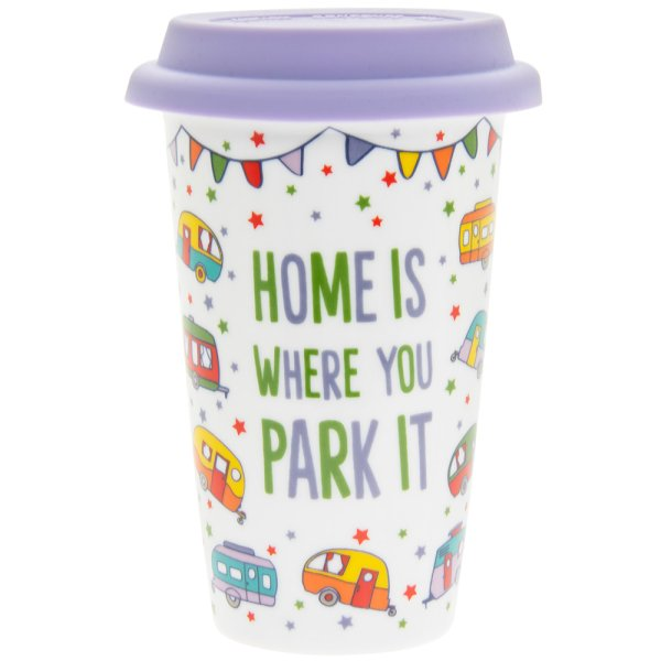 HOMEISWHEREUPARKIT TRAVEL MUG