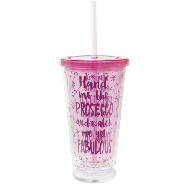 LED PROSECCO CUP W/STRAW