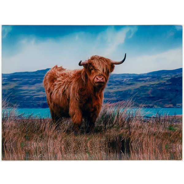 HIGHLAND COW CUTTING BOARD L