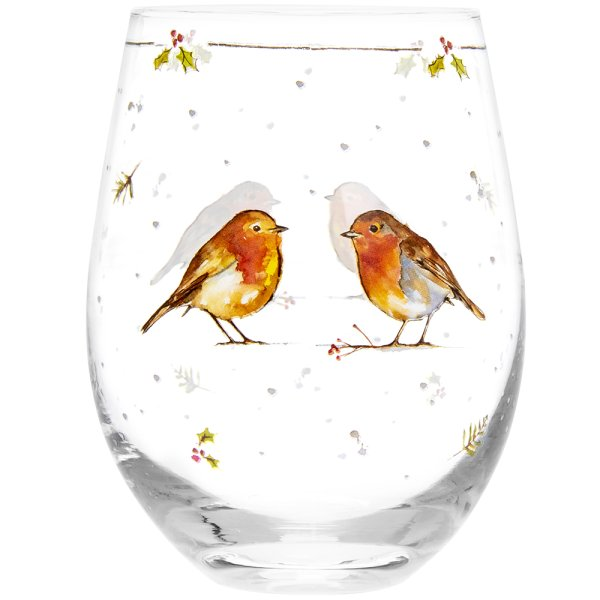 WINTER ROBIN STEMLESS WINE GLS