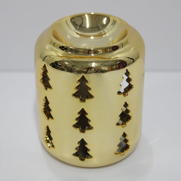 XMAS TREE GLD WAX WARMER 10CM