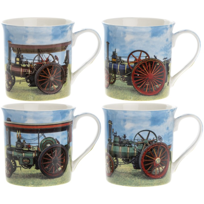 TRACTION ENGINES MUGS SET OF 4