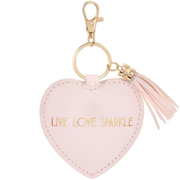 LIVE LOVE SPARKLE KEYRING PINK