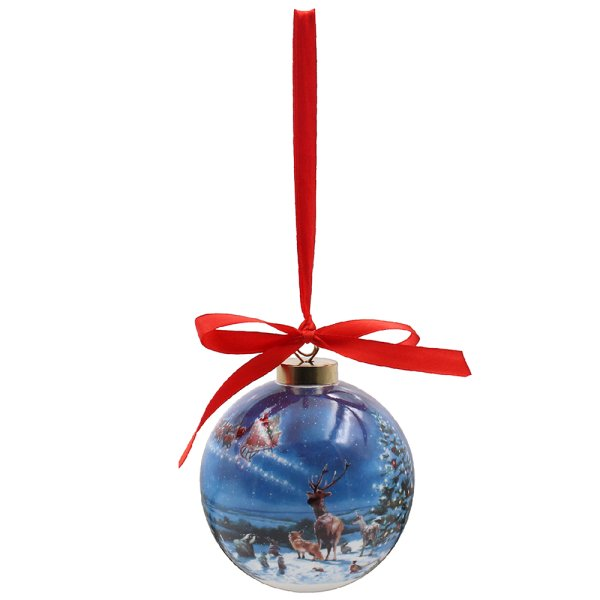 MAGIC OFXMAS CERAMIC BAUBLE