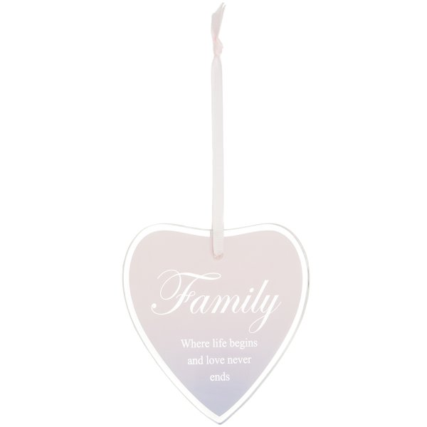 SENTIMENTS HEART PLAQUE FAMILY