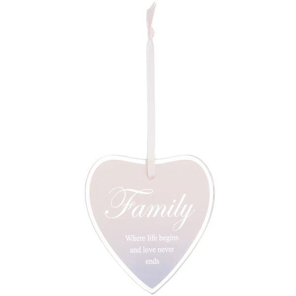 SENTIMENTS HEART PLAQUE FAMILY