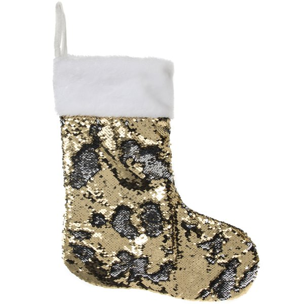 SEQUIN STOCKING SIL /GLD