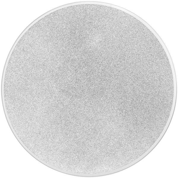 MIRROR GLIT CANDLE PLATE 20CM