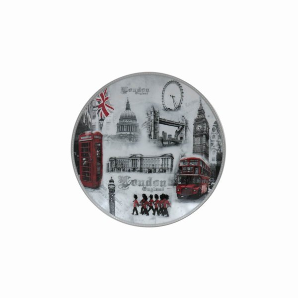 LONDON PLATE W/STAND 8""