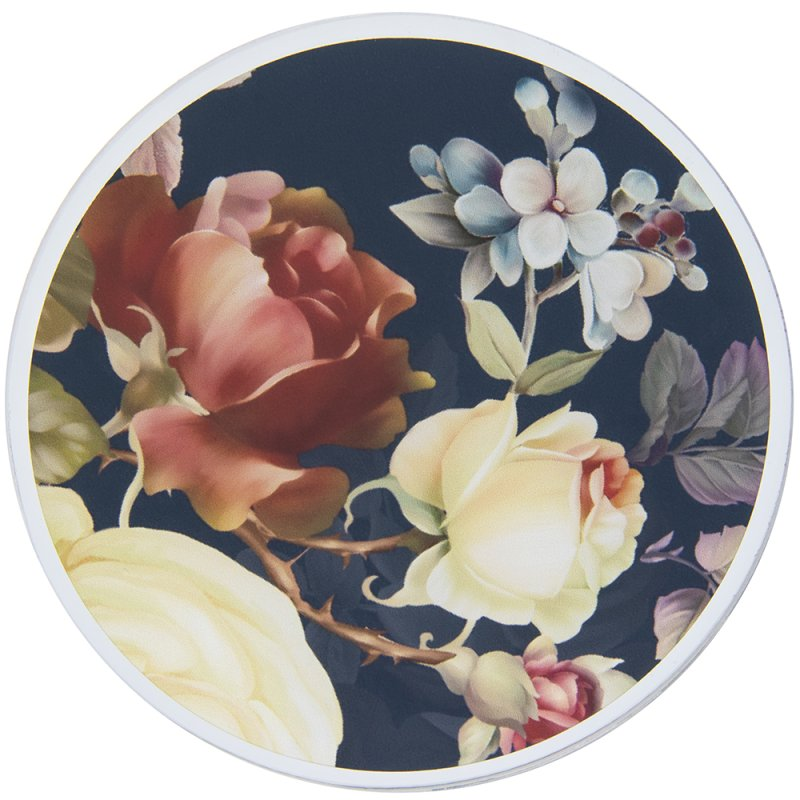 ROSE BLOSSOM CANDLE PLATE 10CM