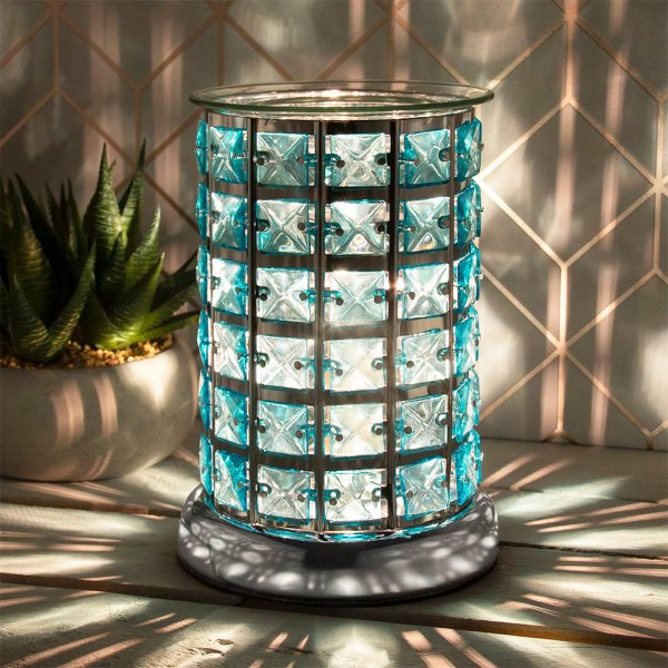 DESIRE AROMA LAMP SILVER&TEAL