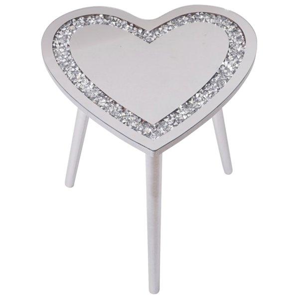 CRYSTAL HEART TABLE 38X38X40