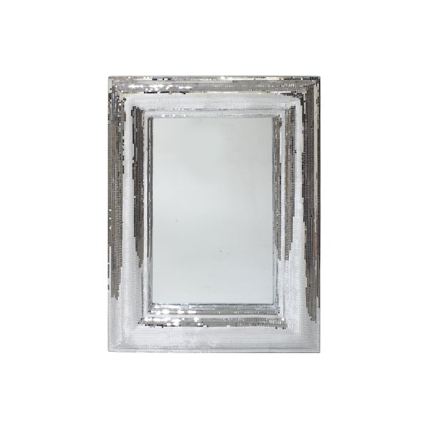 SILVER ART RECTANGLE MIRROR