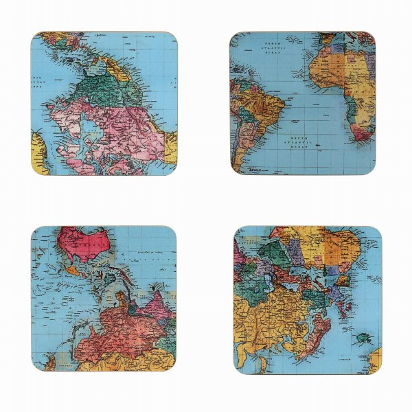 WORLD TRAVELLER COASTERS SET4