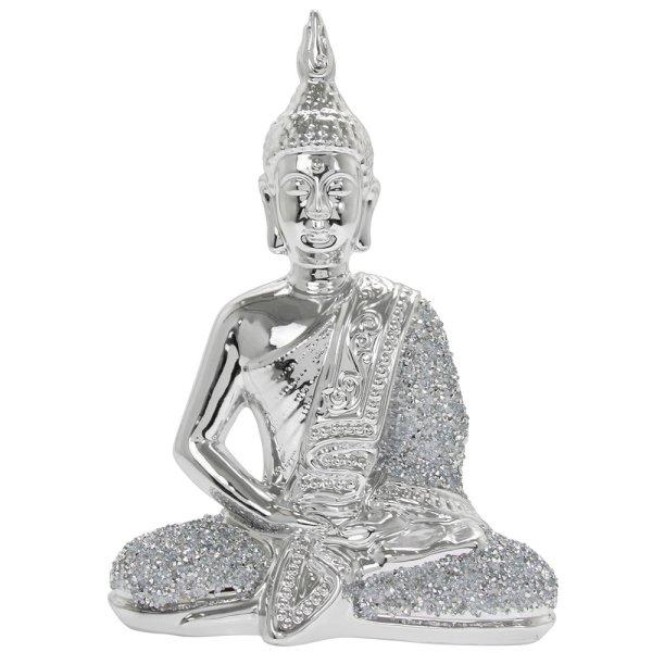 SILVER SPARKLE THAI BUDDHA L