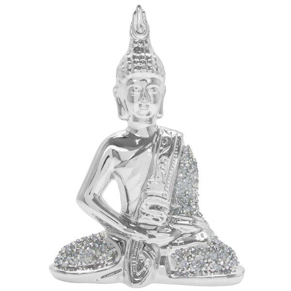 SILVER SPARKLE THAI BUDDHA S