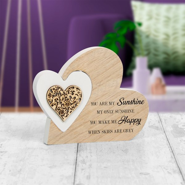 DBL HEART YOU AREMY SUNSHINE S