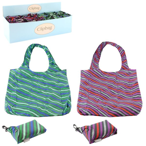 STRIPES CLIP BAG 2 ASST