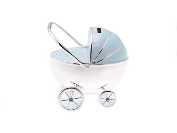S/P PRAM MONEY BOX BLUE