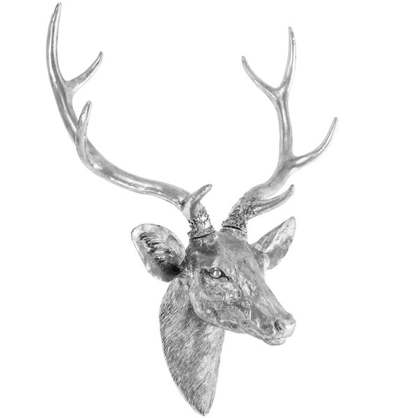 SILVER ART STAG BUST LARGE