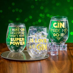 Lets Party Gin Glasses on Social Media