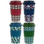 BAMBOO TRAVEL MUG GENTS 4 ASST