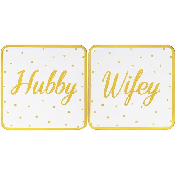 HUBBY&WIFEY COASTERS SET 2