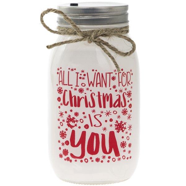 LED JAR ALL I WANT 4 CHRISTMAS